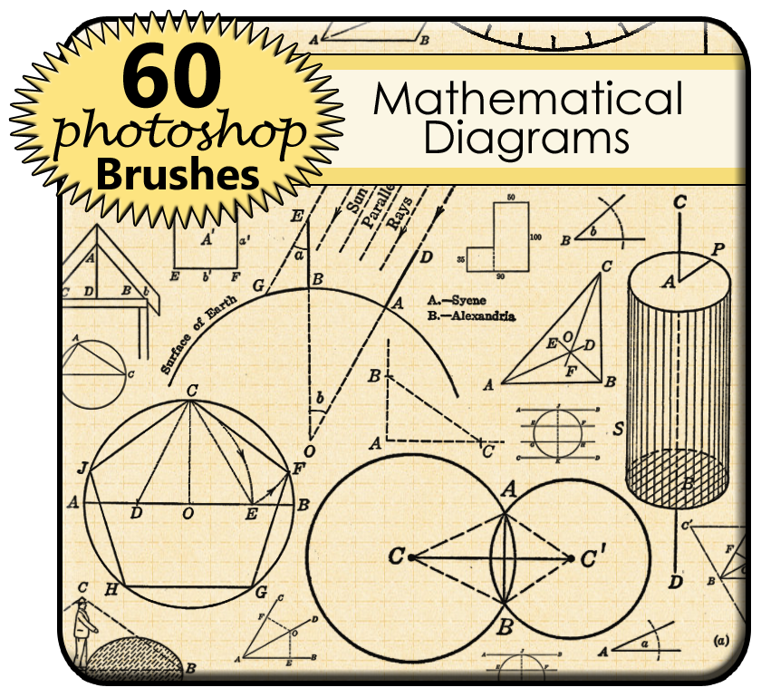 Mathematical Diagram Photoshop Brushes By Twodigitalowls On Deviantart