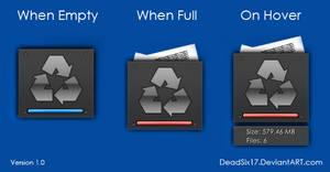 Metal Plate Recycle Bin