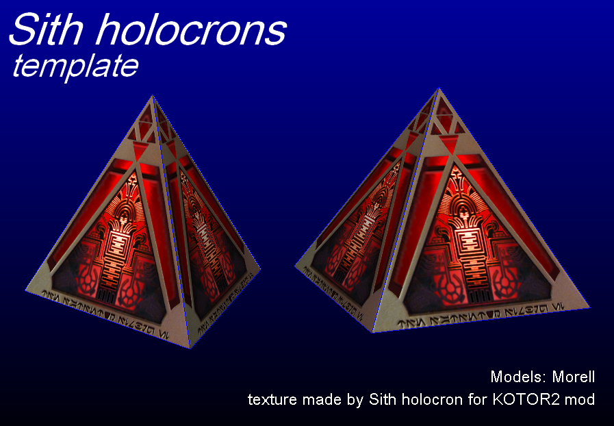 Sith Holocrons - templates by MorellAgrysis