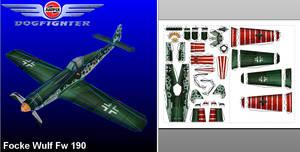 Airfix Dogfighter Focke Wulf 190 - template