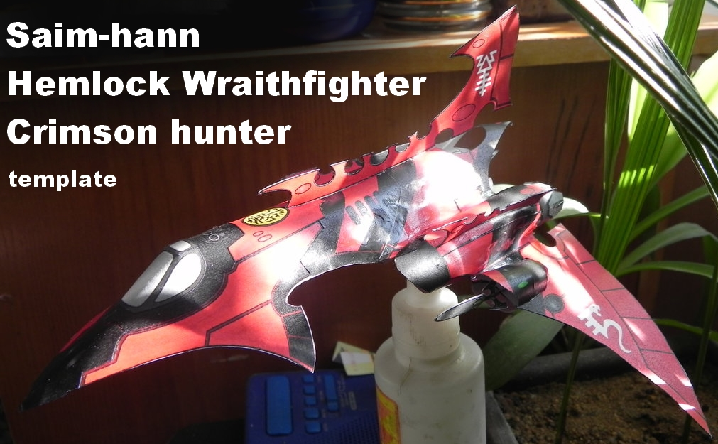 Hemlock wraithfighter/crimson hunter papercraft by MorellAgrysis