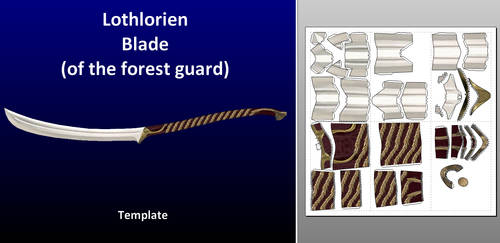 Lothlorien blade - template