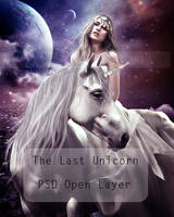 The last Unicorn PSD open layer by shiny-shadows-Art