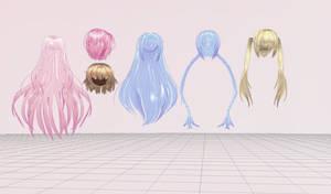 MMD- Legally Sane Hair Pack