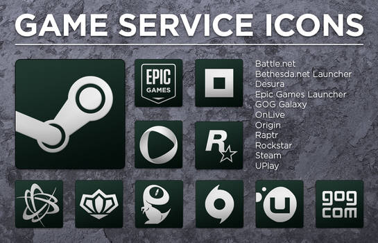 Game Service Icons