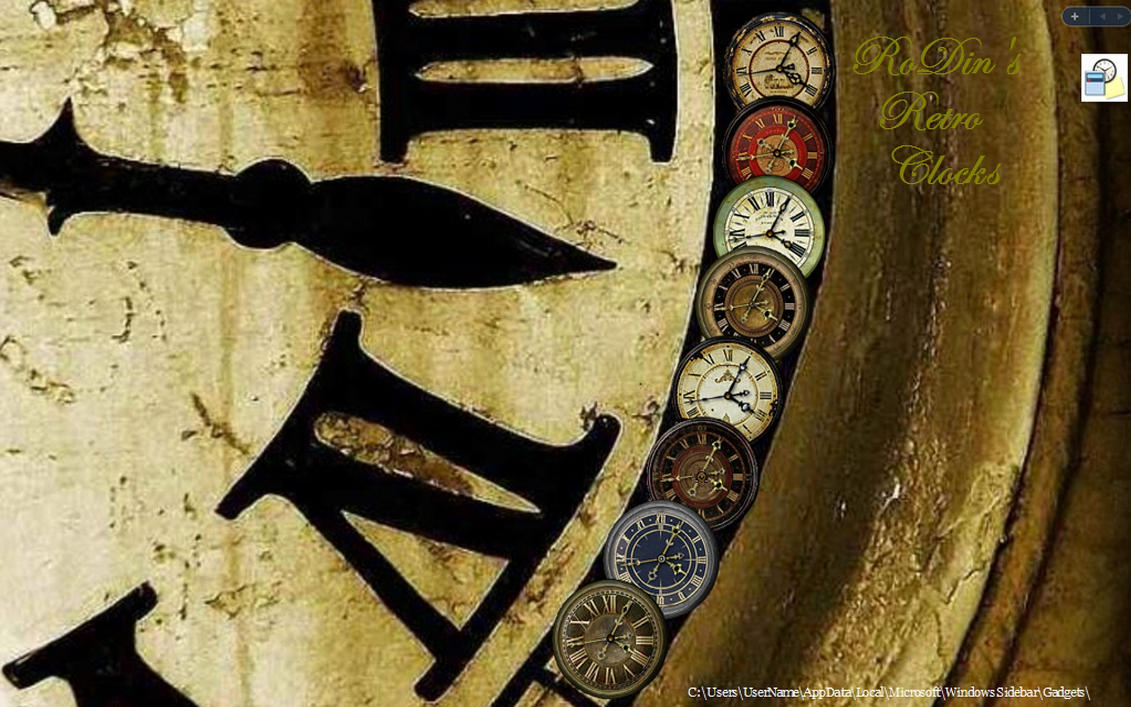 RoDin's Retro Clocks by RobDebo