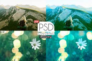 PSD Coloring 006 by vesaspring