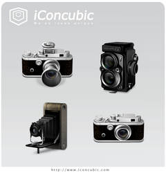 Classic Cameras PNG Version