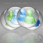 Silver Aqua MSN Messenger Icon