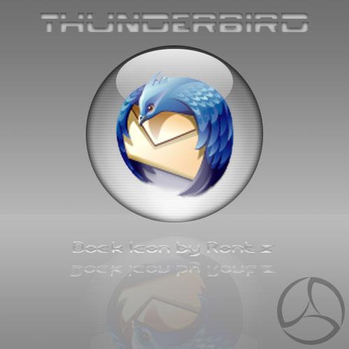 Silver Aqua Thunderbird Icon