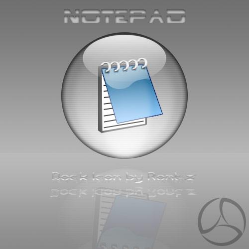 Silver Aqua Notepad Icon