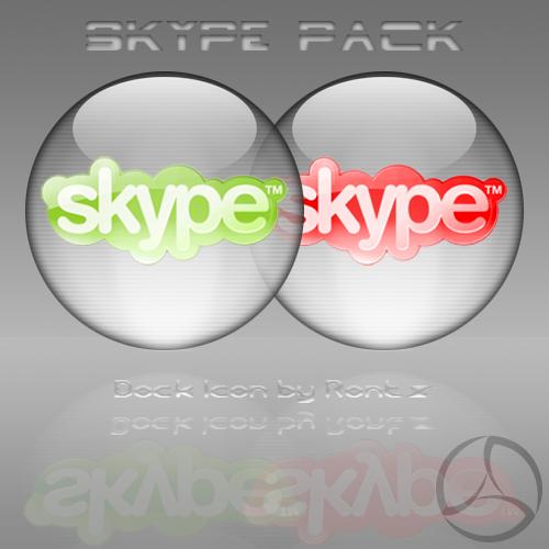 Silver Aqua Skype Icon