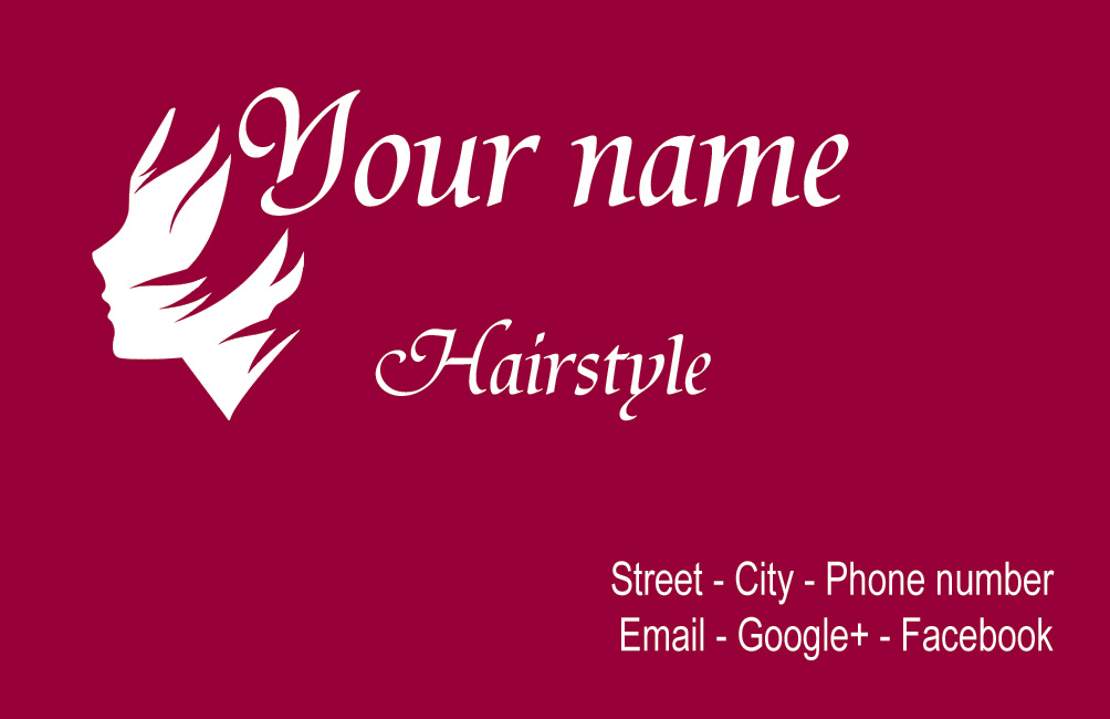 Hairstyle business card by NapoOrsoCapo on DeviantArt