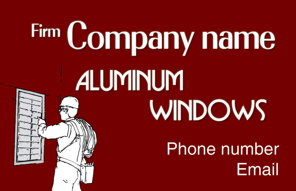 Aluminum windows business card by NapoOrsoCapo on DeviantArt