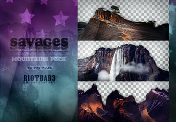 mountains pack / savages.png by RIOTBAB3
