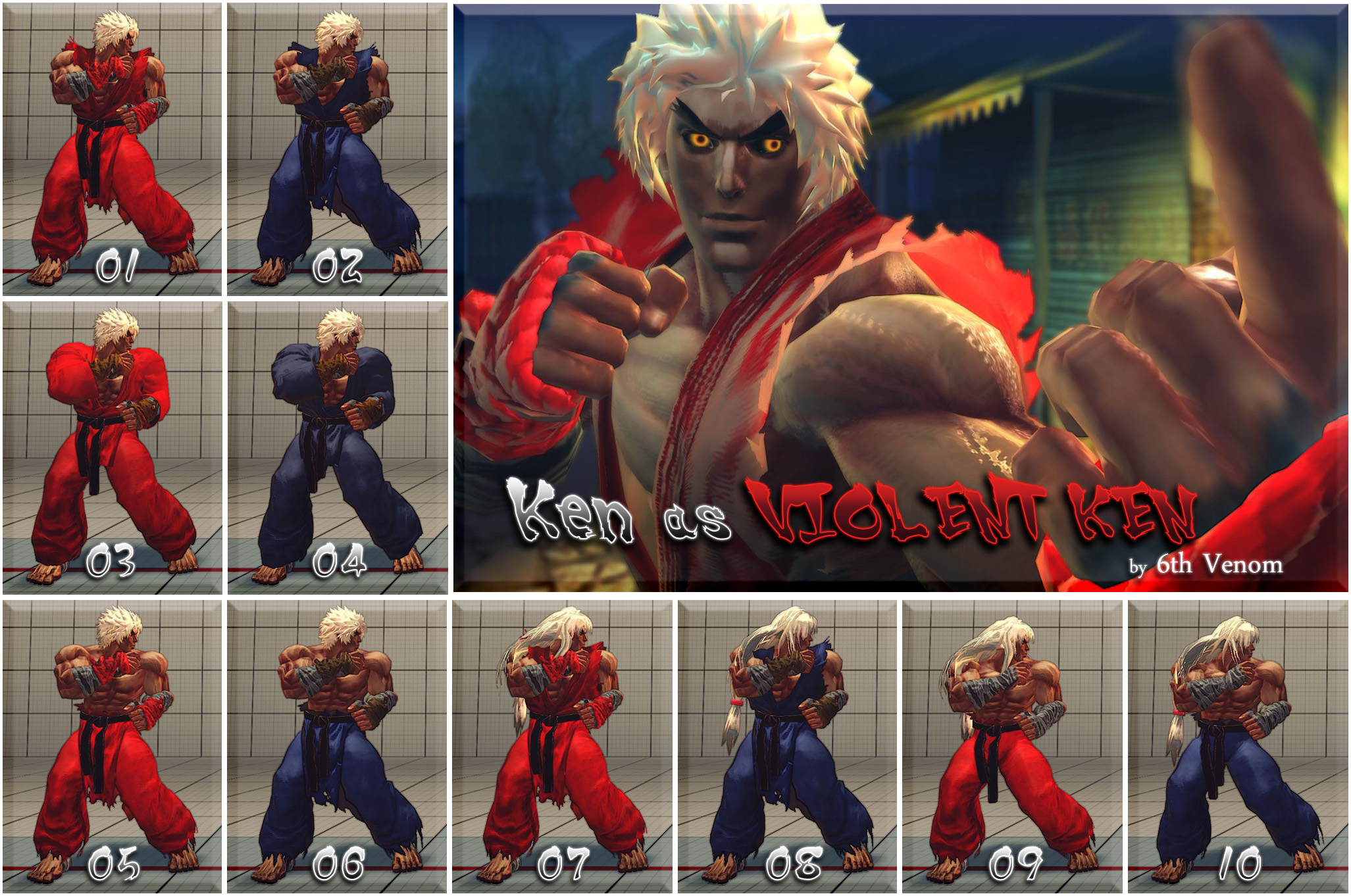 Usf4 Ken As Violent Ken Mod Ver 1 0 By 6thvenom On Deviantart