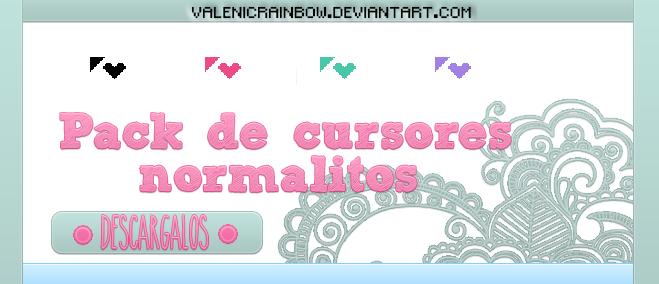 Pack de cursores normalitos~|ValenicRainbow by ValenicRainbow
