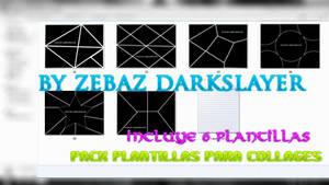 Pack  6 Plantillas para Collage by Zebaz-DarkSlayer