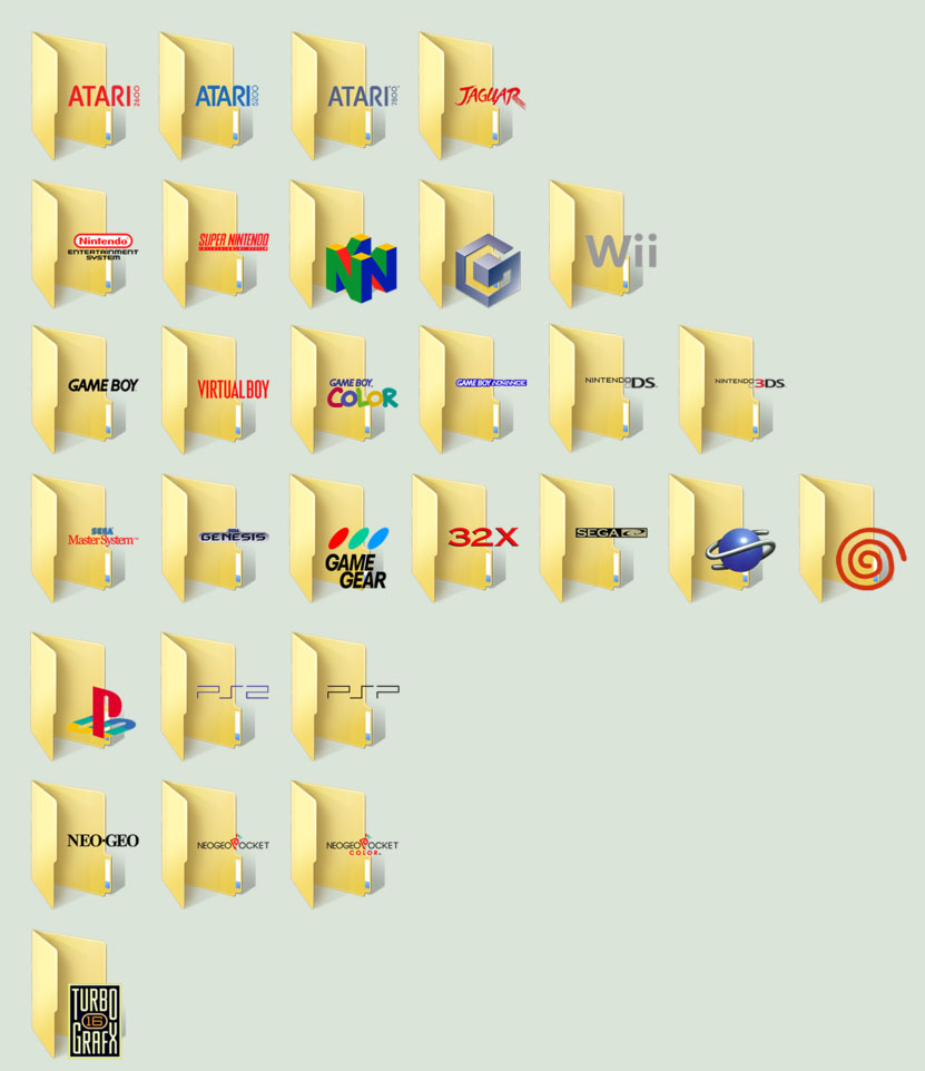 Video Game Folder Icons by TheRealValce