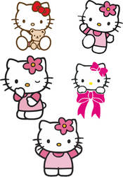 hello kitty vectors by blindblues46