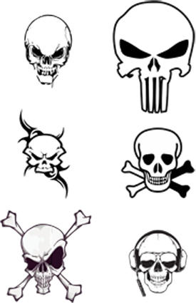 vector skulls by blindblues46