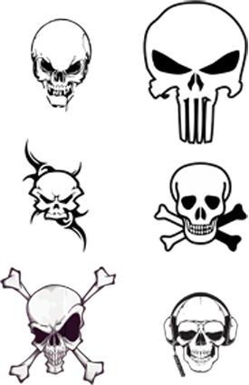 vector skulls by blindblues46