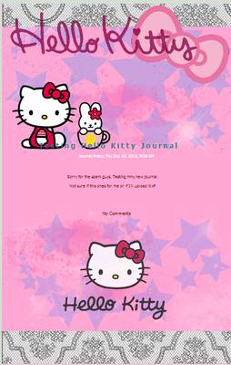 Hello Kitty free journal