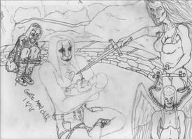 Gentle Angel Child - sketch by holyguyver
