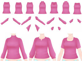 MMD - Shirt Pack by SuminoChan