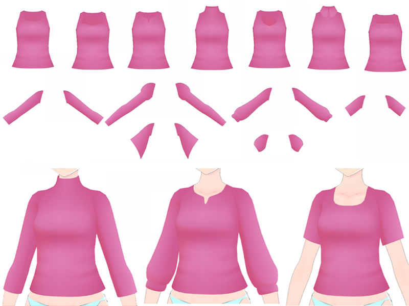 MMD - Shirt Pack by SuminoChan