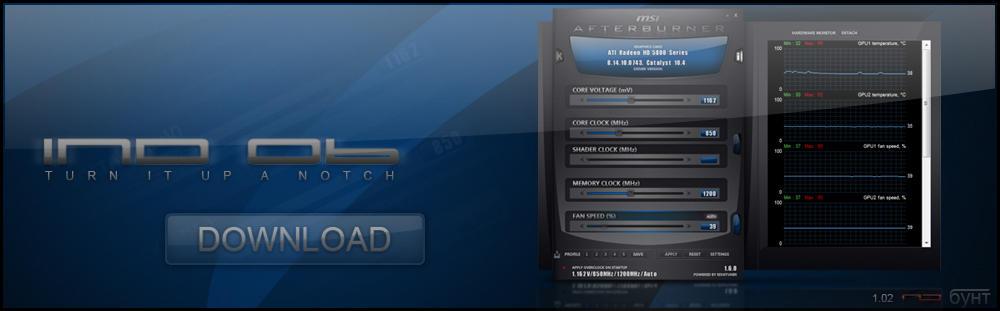 InD 06 for MSI Afterburner - Blue