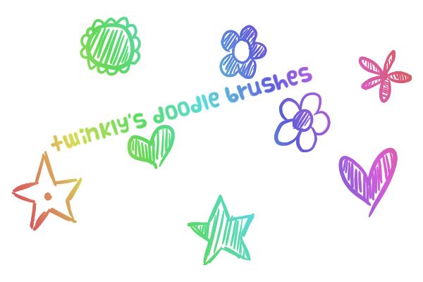 GIMP Doodle Brushes by MsPastel