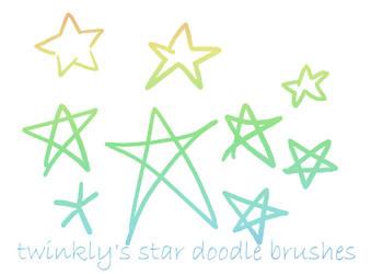 GIMP Star Doodle Brushes by MsPastel
