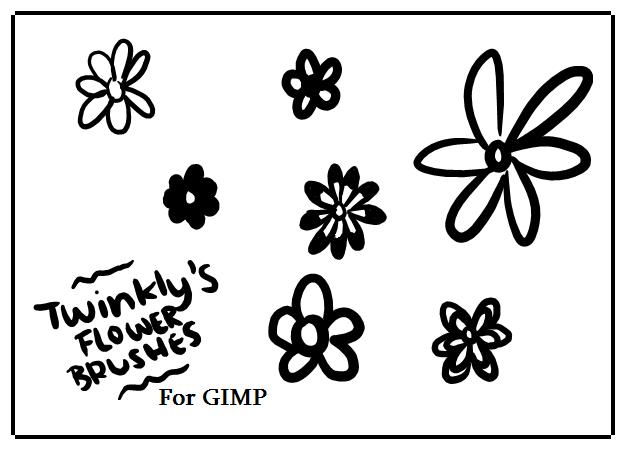 GIMP Flower Brushes by MsPastel