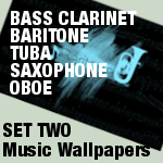 Music Wallpapers SET TWO by MsPastel