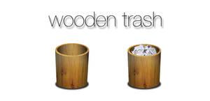 Wooden Trash Icon