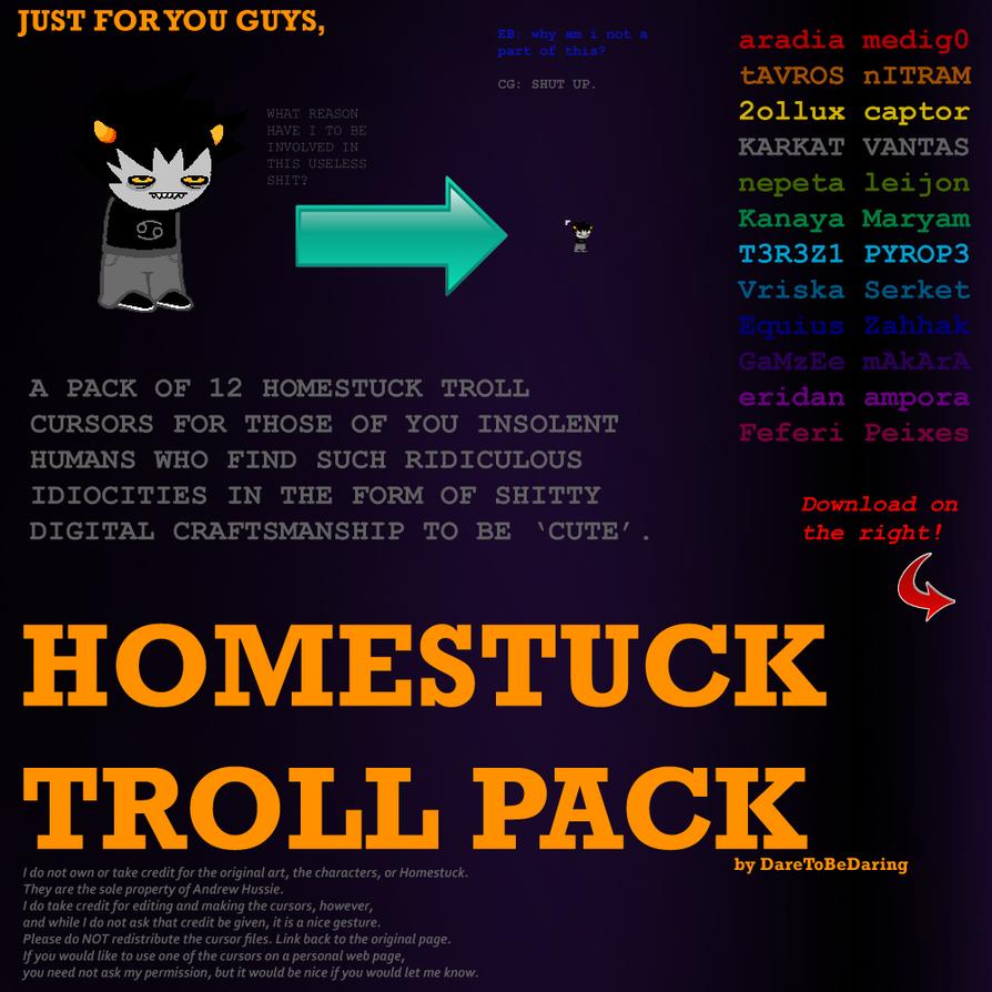 12 Free Homestuck Troll Cursors by DareToBeDaring