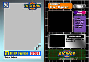 Digimon Trading Card Base Template by iKacte