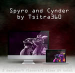 Spyro and Cynder Wallpaper