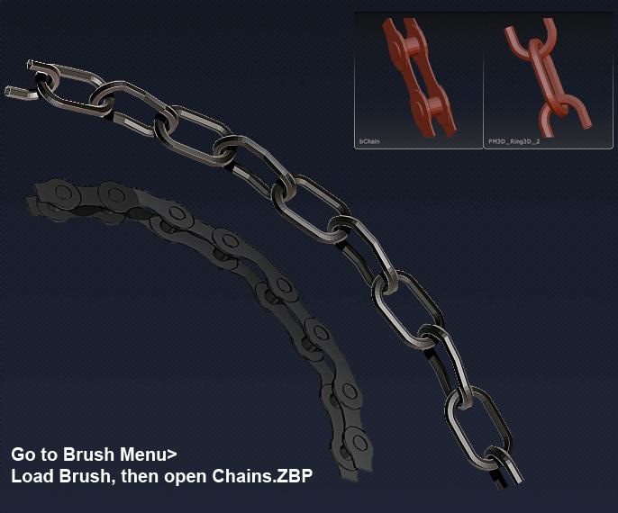 Zbrush Chain Brush Set by MrLaZe