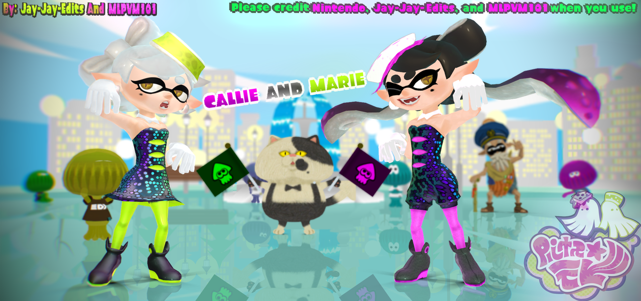 Callie And Marie Wallpaper: MMD DOWNLOAD By O-NOVA-o On DeviantArt