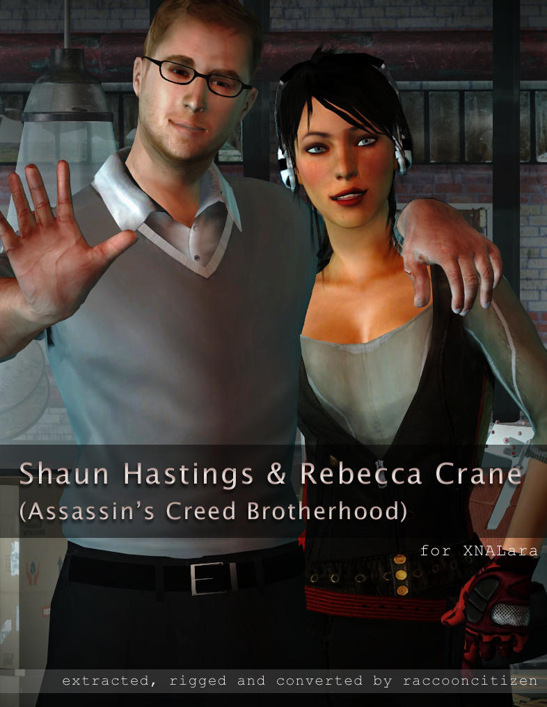 ACB Shaun and Rebecca for XNALara by raccooncitizen