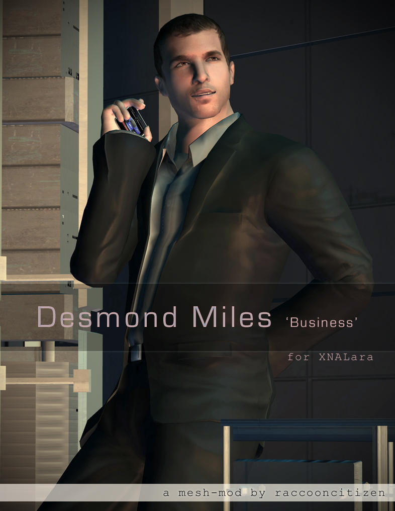 Desmond 'Business' mesh-mod for XNALara by raccooncitizen