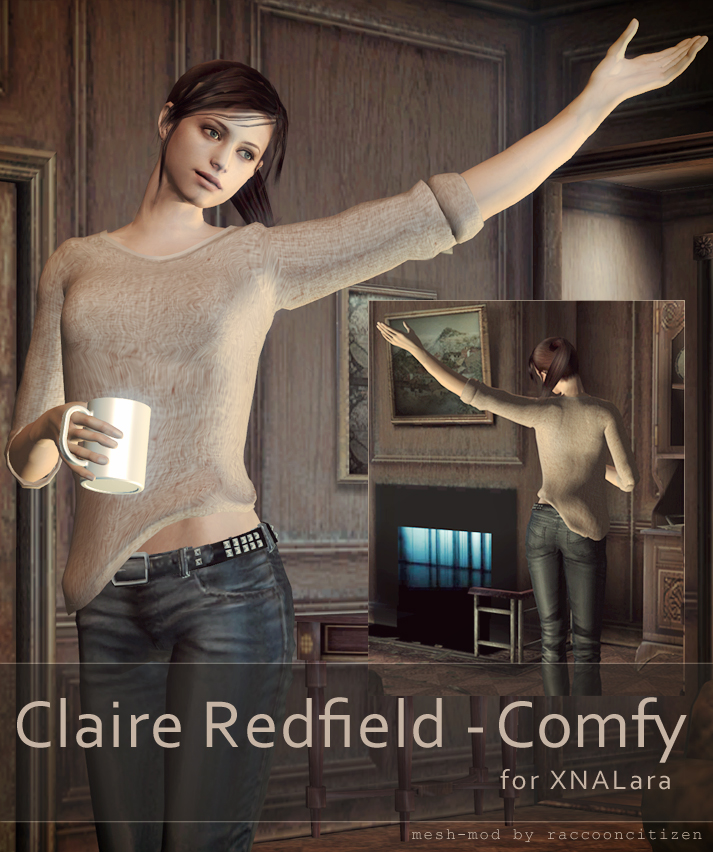Claire Redfield - Comfy - for XNALara by raccooncitizen
