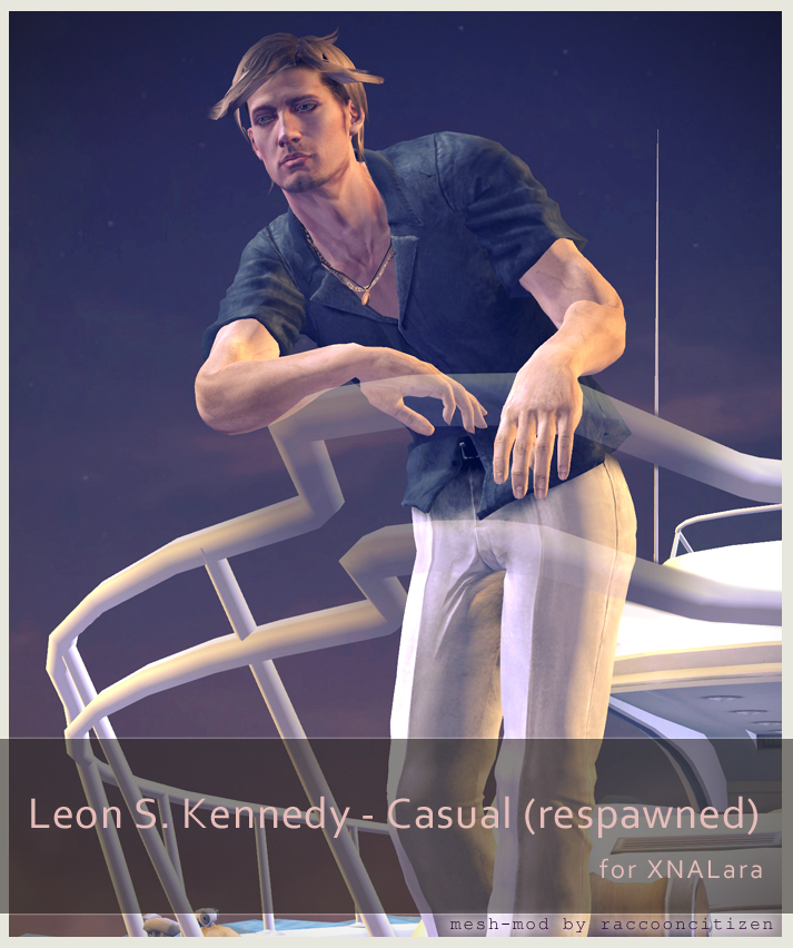 Leon S Kennedy Casual (respawned) - for XNALara by raccooncitizen