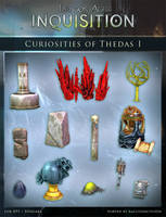 DAI Props - Curiosities of Thedas XPS - (DOWNLOAD) by raccooncitizen