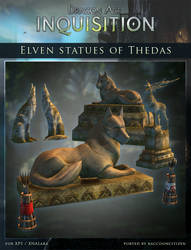 DAI Props - Elven Statues of Thedas for XPS (DL)