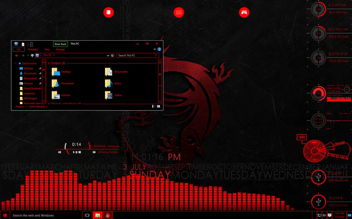 msi gaming dragon wallpaper