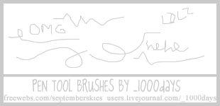 Pen Tool Brushes