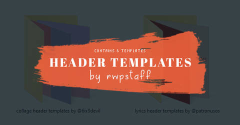 Header Templates By Rwpstaff